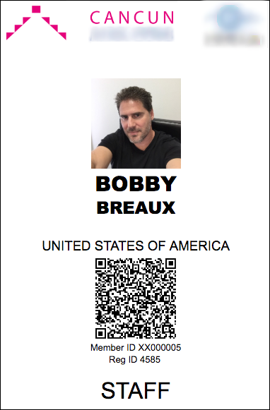 An example of a badge created by the Sneaker Badge/QR plugin.